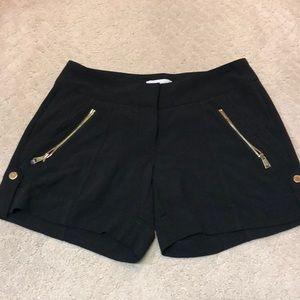 Sexy Cache black zipper detail shorts NWOT